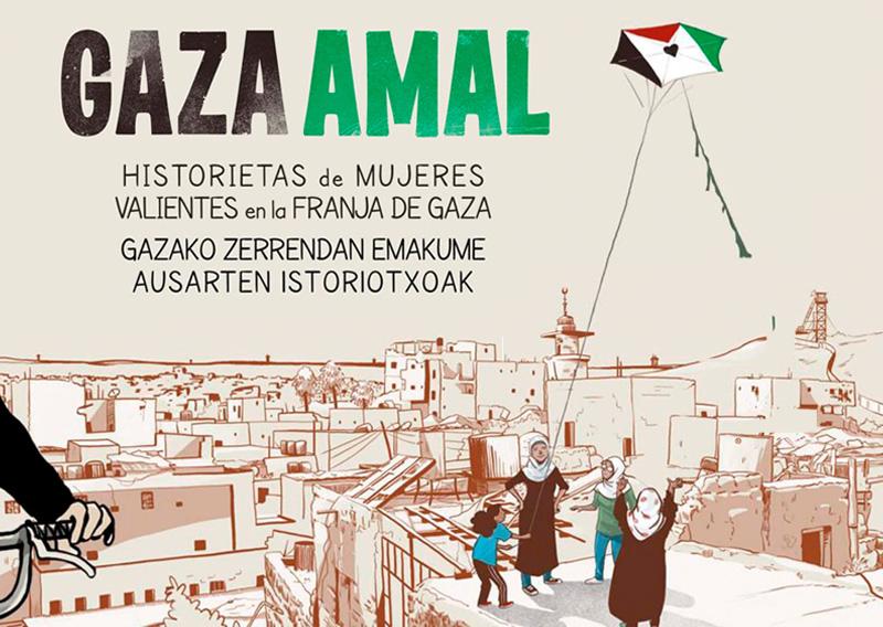Comic - Gaza Amal: historietas de mujeres valientes de la franja de Gaza