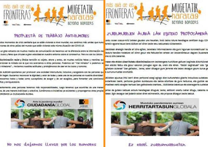 Mugetatik haratago: Propuesta de trabajo AntiRumores