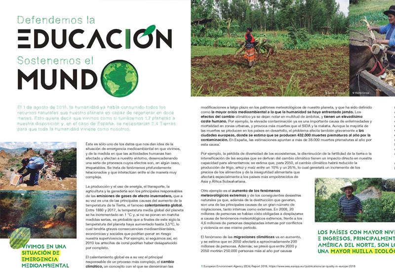 Defendemos la Educación, Sostenemos el Mundo